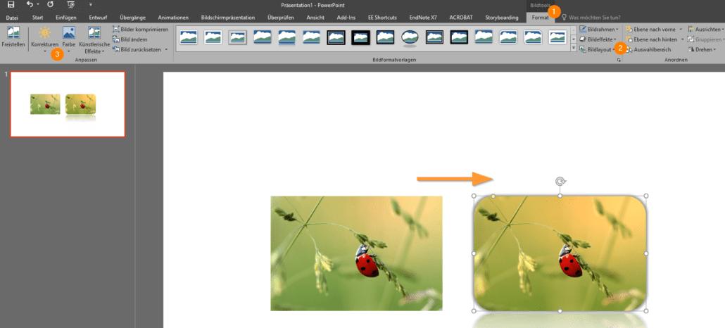 PowerPoint Tipps, Bildbearbeitung