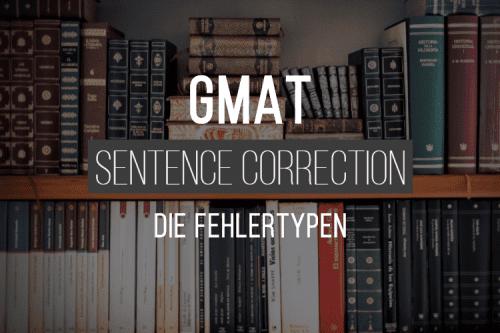 GMAT - Die Fehlertypen in der Sentence Correction