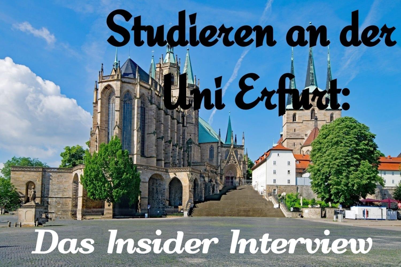 Studieren an der Uni Erfurt: Das große Insider Interview - Magazin ...